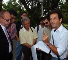 Ruas (E) e Oliveira (D) lideraram associações, ONGs e entidades que procuraram o Legislativo