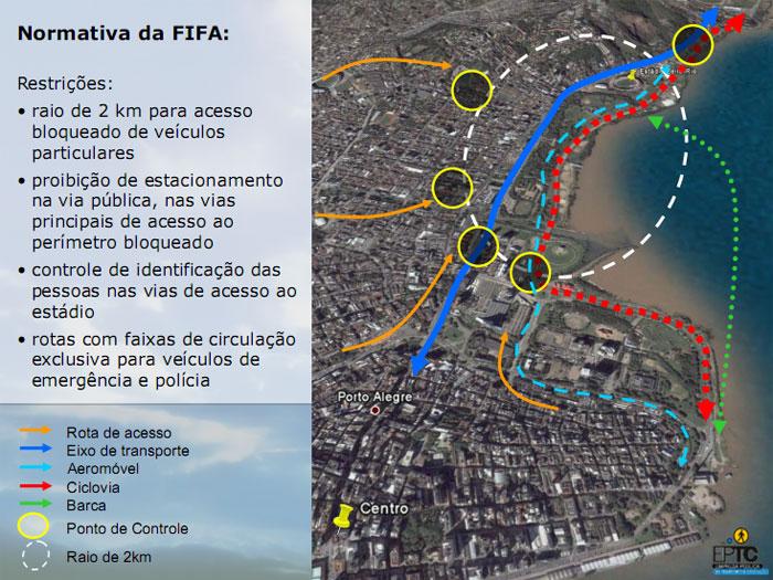 Previsto aeromóvel para ligar Gasômetro ao Beira Rio