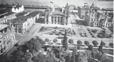 Praça da Alfândega nos anos 40