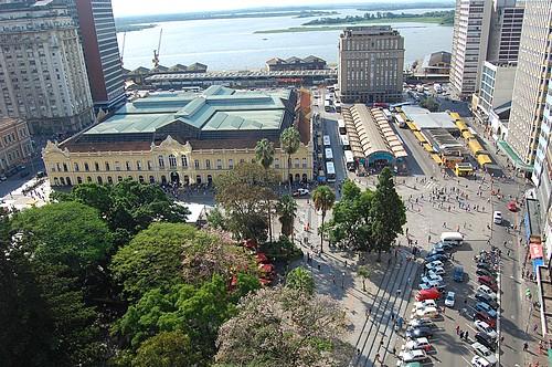 O centro de Porto Alegre pós-camelôs Foto: Gilberto Simon 27/03/2009