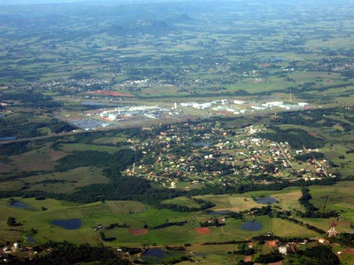 Atual área da GM em Gravataí, em foto aérea de Gerson Ibias