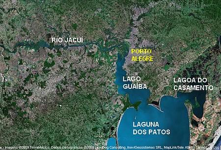 O Guaíba é um lago, assim como a Lagoa do Casamento e a Laguna dos Patos