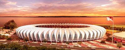 Beira-Rio, provável sede dos jogos em Porto Alegre