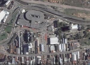 Rodoviária de Porto Alegre, vista aérea