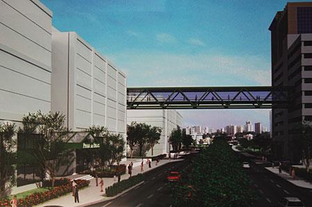 Passarela ligará edifício garagem de 8 andares ao Shopping
