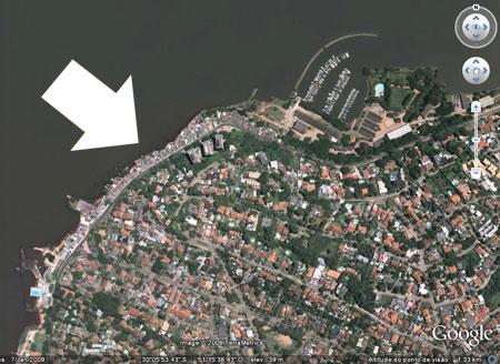 Favela da Assunção. Área residencial na orla.
