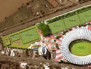 Implantação do projeto do novo Beira-Rio (imagem: Hype Studio)