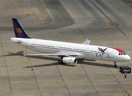 Aeronave da Taca Airlines. Foto: Juan Manuel Temoche