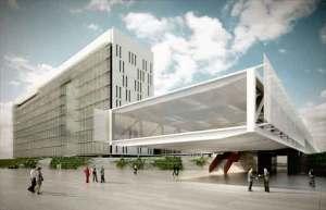 Prédio principal do complexo que será construído na zona norte