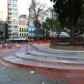 "Praça XV em ""reforma"". Foto: Gilberto Simon"