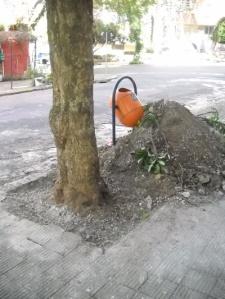 Canteiro já adaptado para as exigências da SMOV.
