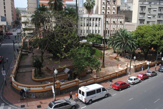 A praça Otávio Rocha era assim...