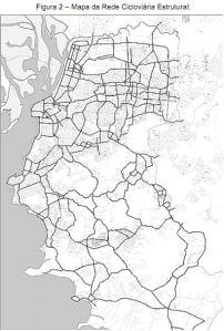 Mapa plano cicloviário