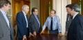 Governo e consórcio assinaram termo aditivo de contrato para as obras de revitalização do cais | Foto: Caroline Bicocchi / Palácio Piratini