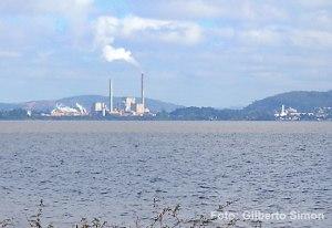 Celulose Riogrnadense vista da zona sul de Porto Alegre. Foto: Gilberto Simon. Arquivo Porto imagem
