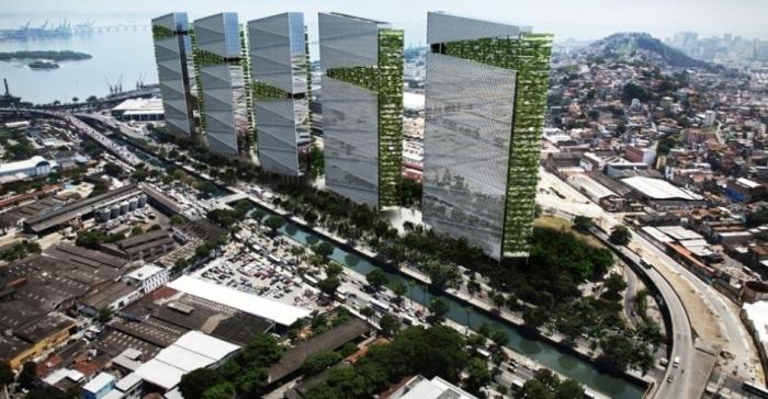 O magnata dos negócios Donald Trump anunciou, nesta terça-feira (18), que vai investir na construção do maior complexo de torres comerciais do Brasil, Trump Towers Rio de Janeiro. Na imagem, projeção do projeto Divulgação