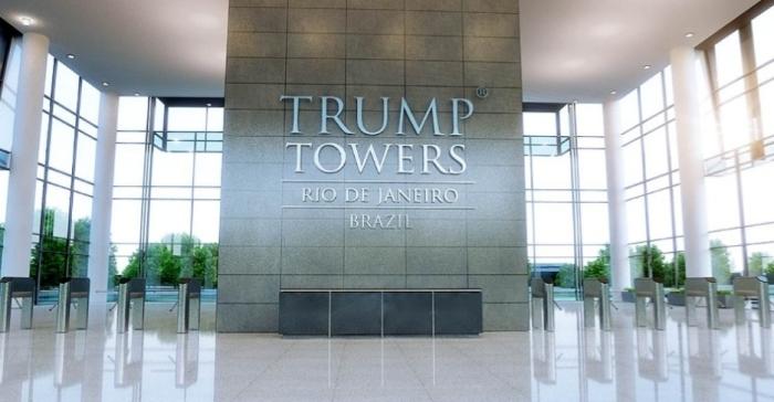 Imagem representativa do interior do complexo de torres comerciais Trump Towers Rio de Janeiro. O empresário está de olho nos grandes eventos que o Rio irá sediar nos próximo anos Divulgação