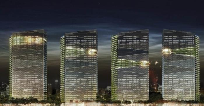 Imagem representativa do complexo de torres comerciais Trump Towers Rio de Janeiro. O empresário está de olho nos grandes eventos que o Rio irá sediar nos próximo anos Divulgação