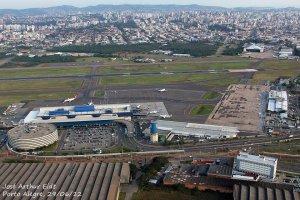 Aeroporto Internacional Salgado Filho - vista aérea. Foto: José Artur Eidt