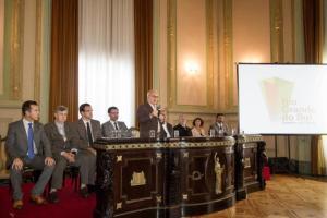 Anúncio de construção da fábrica de etanol foi feito no Palácio Piratini  Crédito: Caroline Bicocchi / Divulgação / Palácio Piratini / CP