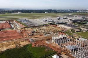 Obras no aeroporto de Cumbica: três obras concluídas (crédito: Infraero/Divulgação)