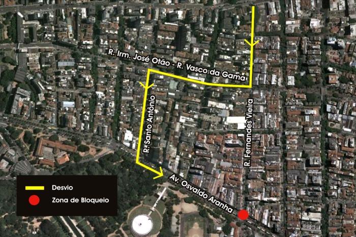 Bloqueio começa às 9h de quarta-feira, 20, e tem previsão de duração de 20 dias  Foto: Divulgação/PMPA