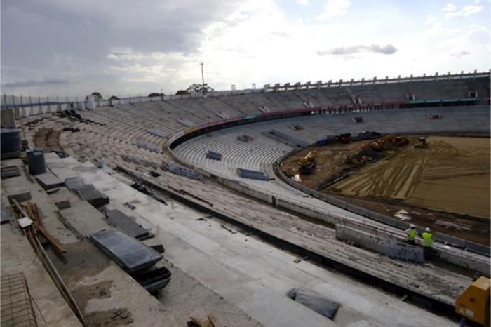 Próxima etapa será a instalação dos assentos para o público em geral  Foto: Divulgação/PMPA