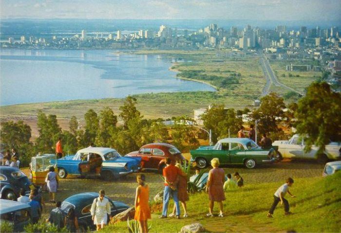 Morro Santa Teresa na década de 60.