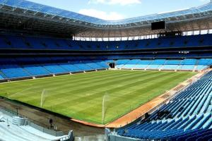 Grêmio admite hipótese de comprar Arena  Crédito: Lucas Uebel / Grêmio / CP