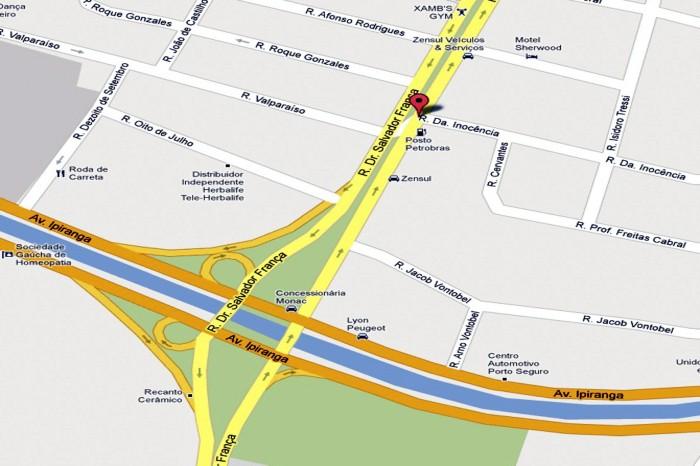 Primeiro local a receber intervenções será a avenida Salvador França   Foto: Divulgação/PMPA