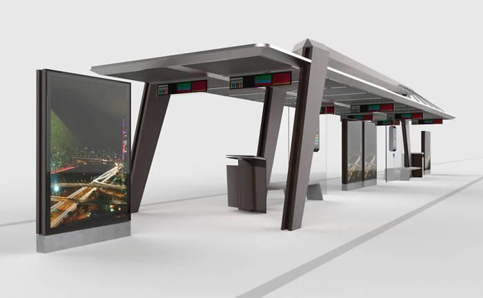 Novo modelo de estações de embarque em corredores de ônibus