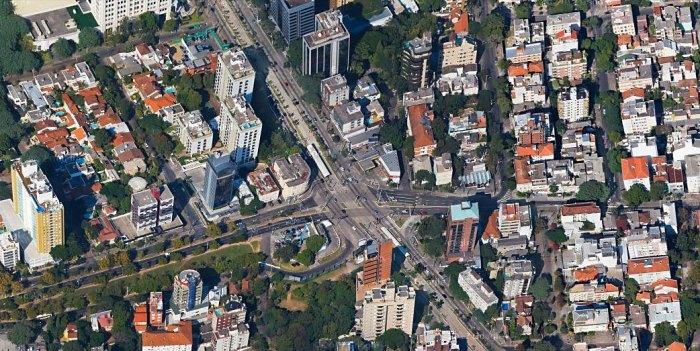Obra na Plínio custará R$ 31 milhões. Imagem: Google