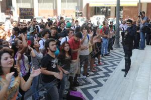 Estudantes protestam e reivindicam passe livre em Porto Alegre  Crédito: Tarsila Pereira