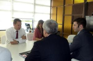 Diplomata elogiou o sistema viário e a implantação das ciclovias na cidade  Foto: Divulgação/PMPA