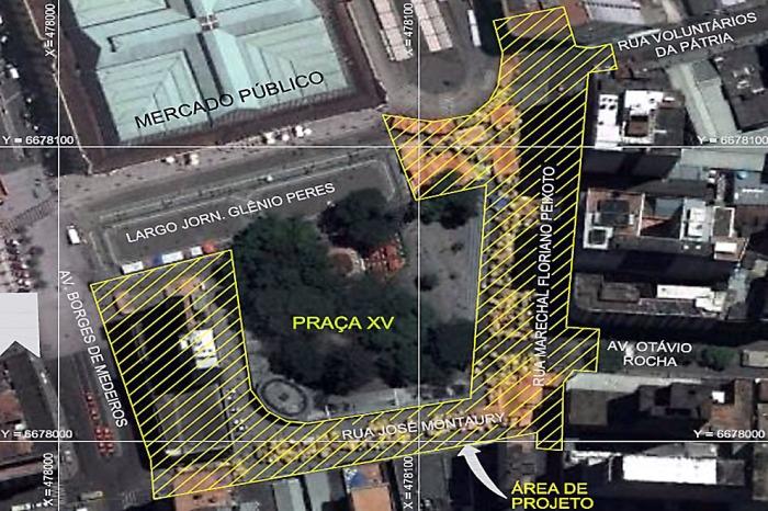 Projeto prevê iluminação, sinalização, arborização e abertura da José Montaury  Foto: Divulgação/PMPA