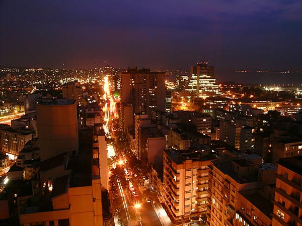 Porto Alegre vista do Everest Hotel. Foto: Gilberto Simon