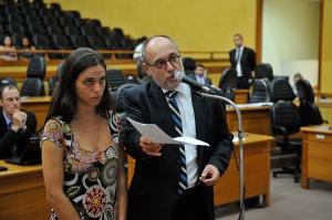 Pedro Ruas e Fernanda Melchionna reafirmaram sua contrariedade ao aumento que elevou a tarifa para R$ 3,05 | Foto: Elson Sempé Pedroso/CMPA