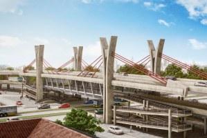 Termos permitirão avanço em obras como a do viaduto da Bento Gonçalves  Foto: Divulgação/PMPA