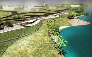 No total, o projeto arquitetônico prevê 7 quilômetros de revitalização | Foto: Escritório Jaime Lerner / Divulgação / CP
