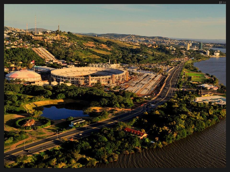 Foto: Beira-Rio, Porto Alegre. Fonte: Blog Porto Imagem