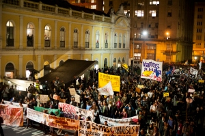 Manifestação em POA (Foto: SUL 21)
