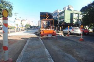 Obras devem ser paralisadas nesta terça  Crédito: André Ávila