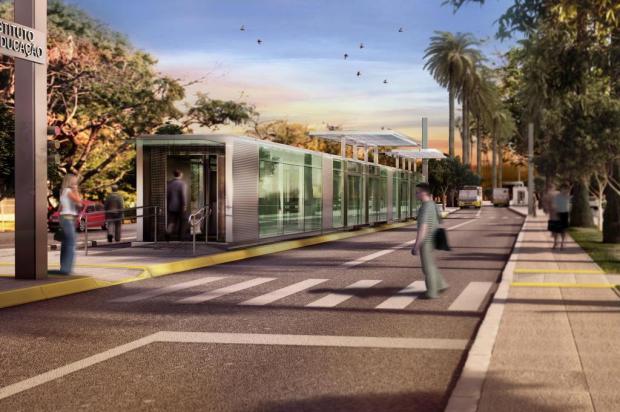 Estações (como a da imagem) e terminais do sistema BRT sequer têm projetos finalizados Foto: Divulgação / Prefeitura Municipal