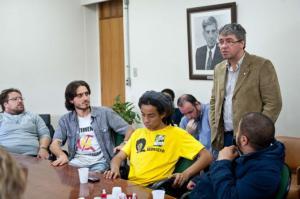 Manifestantes devem deixar o Legislativo da Capital até segunda  Crédito: Ederson Nunes / Câmara Municipal de Porto Alegre / CP