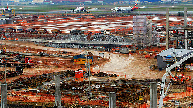 Terminal 3 do aeroporto de Guarulhos deve ser inaugurado em maio de 2014.  Fotos:  Jorge Araújo/Folhapress