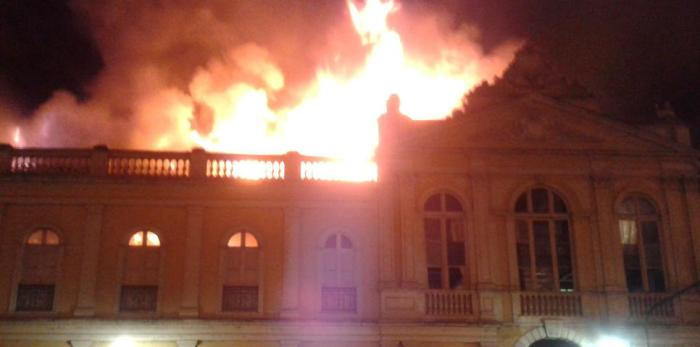 Incêndio atinge Mercado Público de Porto Alegre Crédito: Tiago Medina / Especial CP