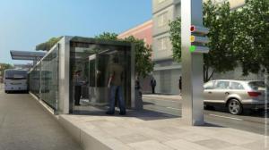Estações BRT Porto Alegre - Maquete: Divulgação / Prefeitura de Porto Alegre
