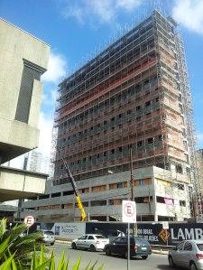 Hotel Ibis Budget em construção na Júlio de Castilhos. Foto: Gilberto Simon