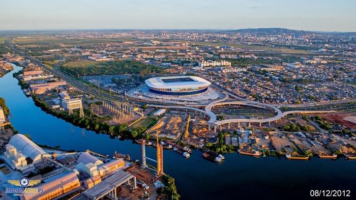 Koff discutiu questões relativas às obras de infraestrutura no entorno da Arena  Foto: Vitor Kalsing - Imagem Aérea RS