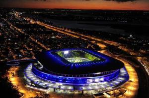 Arena do Grêmio à noite. Foto: Blog do Grêmio.